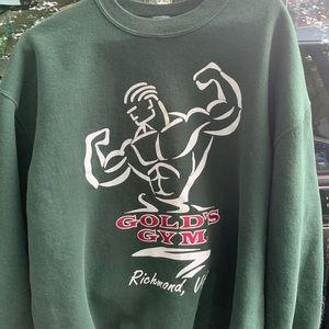 vintage golds gym crewneck